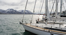 Sailing in Svalbard
